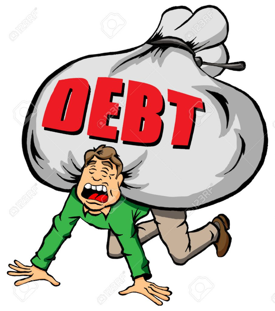 24257944-cartoon-image-of-someone-being-weighed-down-by-too-much-debt-stock-vector
